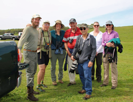 SVC Docents lead birding hike.
